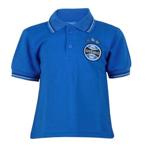 Camisa Polo Infantil Manga Curta Grêmio Torcida Tricolor