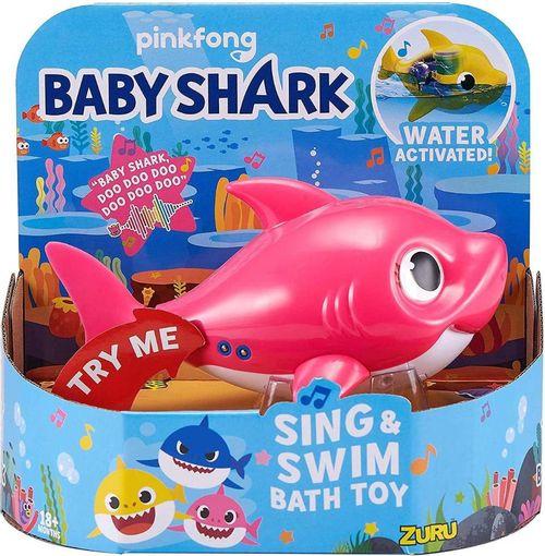 Baby Shark Robo Alive Junior Canta E Nada Rosa - Candide