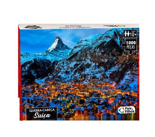 Quebra Cabeça - 1000 Peças - Suíça - Pais e Filhos