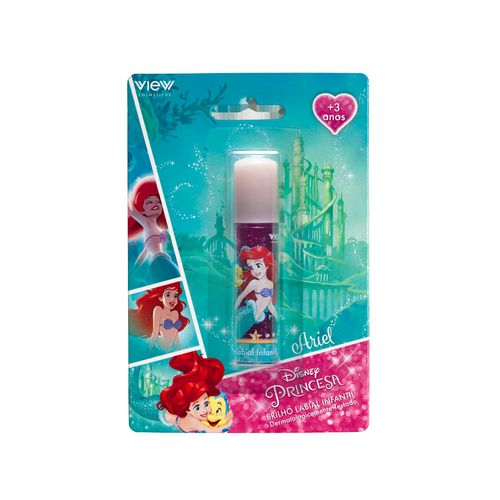 Maquiagem Infantil - Brilho Labial - Disney Princesas - Ariel - View Cosméticos