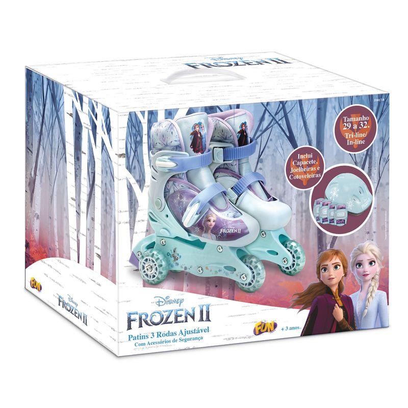 Patins-Ajustavel-com-Kit-de-Seguranca---3-Rodas---Tam-29-a-32---Frozen---Fun-3