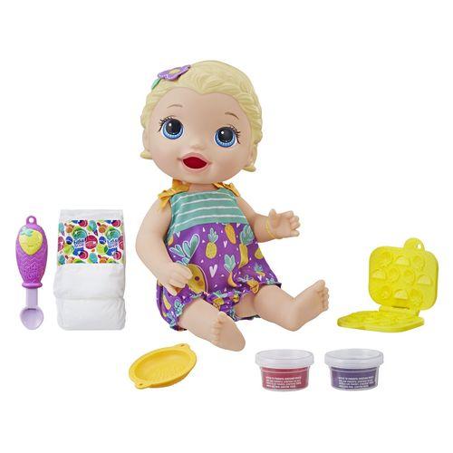 Boneca Baby Alive Lanchinhos Divertidos Loira - Hasbro E5841