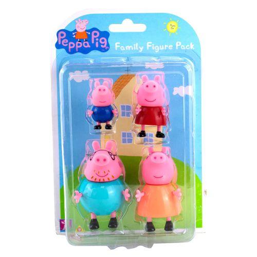 Conjunto De Mini Figuras - Familia Peppa - 4 Personagens - Peppa Pig - Sunny