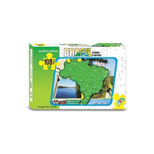 Jogo Quebra Cabeça Mapa do Brasil - Nig