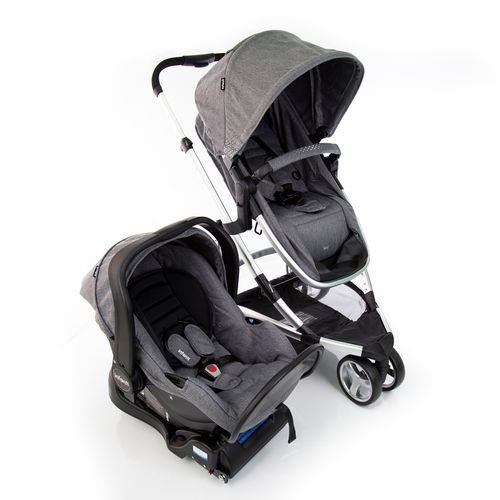 Travel System - Sky Trio Classic Com Isofix - Grey - Infanti