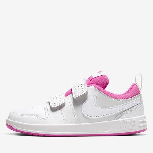 Tênis Nike Pico 5 Branco e Rosa V21 AR4161 016