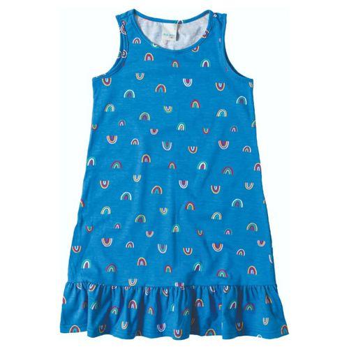 Vestido Azul Arco Íris