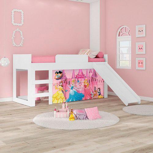 Cama Infantil c/Escorregador Princesas Disney Joy - Pura Magia