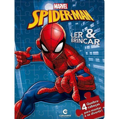 Livro Infantil - Ler e Brincar com Quebra-Cabeça - Disney - Marvel - Spider-Man - Culturama