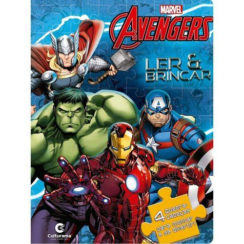 Livro Infantil - Ler e Brincar com Quebra-Cabeça - Disney - Marvel - Vingadores - Culturama