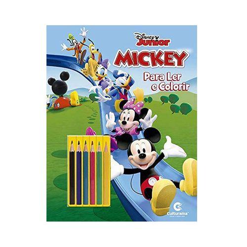 Livro para Colorir e Ler - Disney - Mickey Mouse com Lápis - Culturama