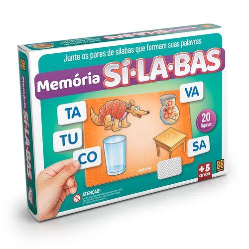 Jogo Memória Sílabas - Nova Embalagem - Grow
