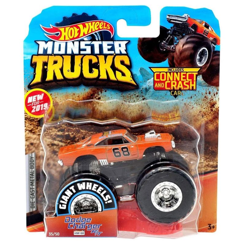 veiculo-die-cast-hot-wheels-1-64-monster-trucks-dodge-charger-rt-mattel_Frente