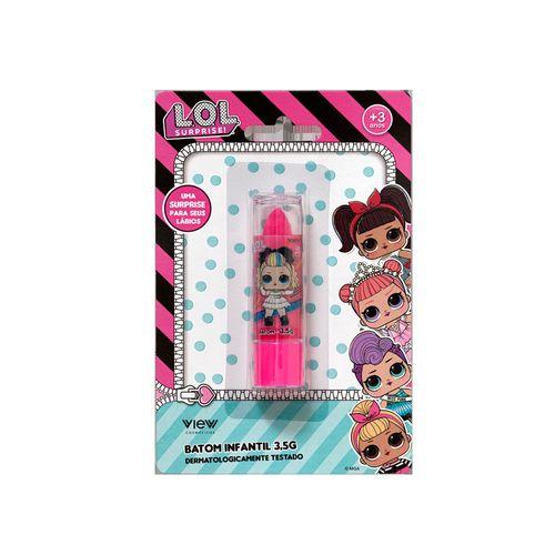 Maquiagem Infantil - Batom 3,5g - Rosa - LOL Surprise! - View Cosméticos
