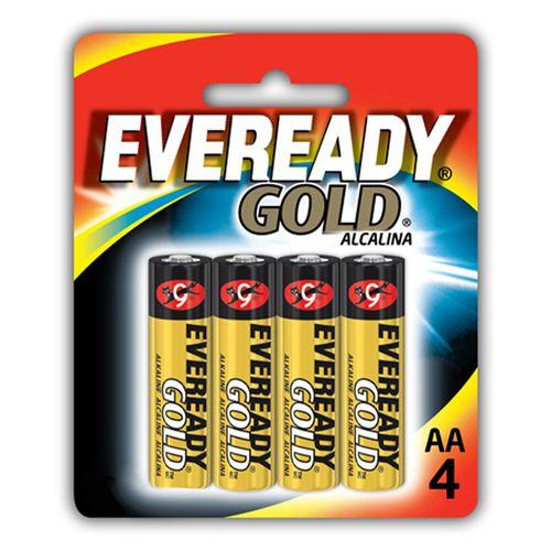 Pilhas Alcalinas - LR03 Palito - AAA - Cartela com 4 Unidades - Eveready Gold