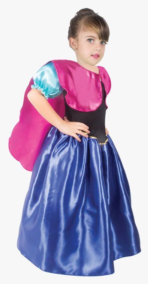 Fantasia Infantil tam.M Princesa preta e azul  1475 Brink Model