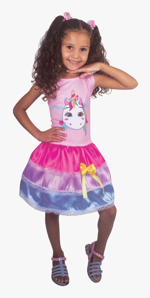 Fantasia Infantil Vest. M Unicórnio Fashion 2551 BrinkModel