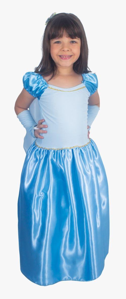 Fantasia Infantil tam.M Princesa azul c/ capa 2503 Brink Model