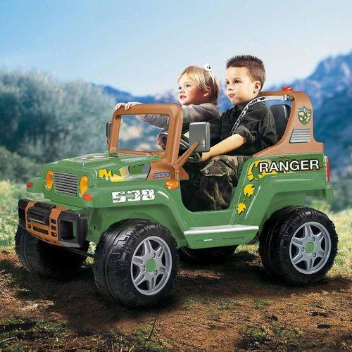 Carro Elétrico Infantil - Jipe Ranger 538 - 12v - Verde - Peg-Pérego