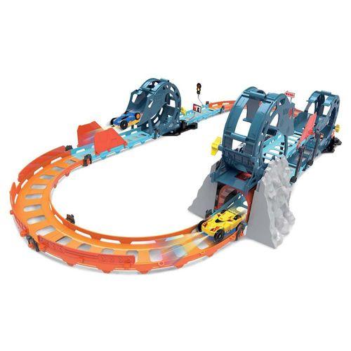 Pista Turbo Looping Triplo com Carrinho Dupla Cor e Led - Braskit