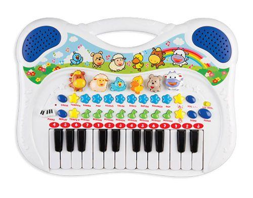 Piano e Teclado Musical Infantil Animal - Azul - Braskit