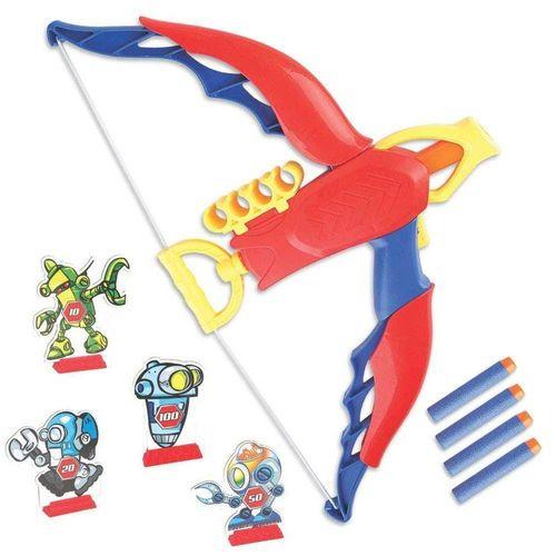 Lançador e Arco de Brinquedo com Alvos - Herói Arqueiro - Braskit