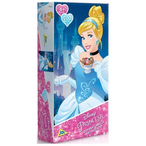 Quebra-Cabeça Metalizado Princesas Disney 200 Peças