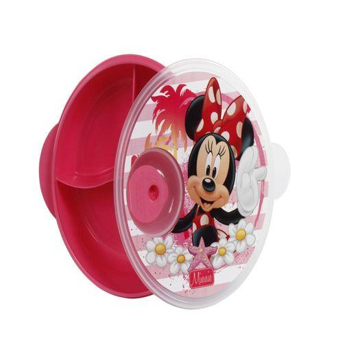 Prato Com Divisões - Disney - Minnie - BabyGo