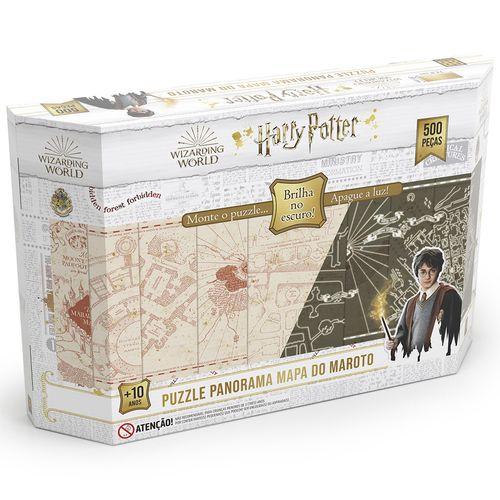 Quebra-Cabeça Panorama - 500 Peças - Harry Potter - Brilha no Escuro - Grow