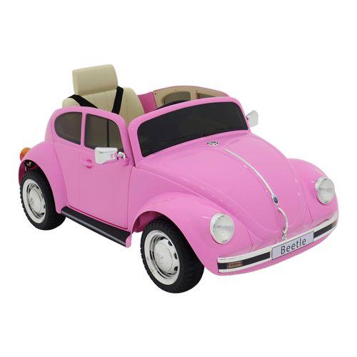 Mini Veículo Elétrico - 12V - Volkswagen Beetle - Rosa - Bel Fix