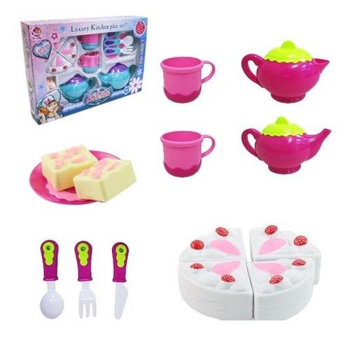 Kit Cozinha Infantil Com Bule E Acessórios 15 Peças