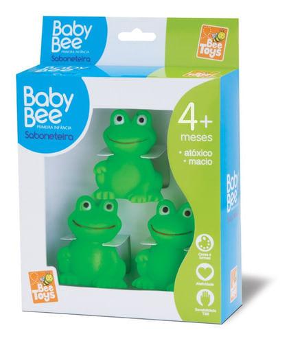 Sapinho De Borracha 3 Filhotes Para Banho Baby Bee Toys