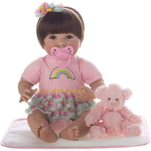 Boneca Bebê - Reborn - Laura Baby - Catarina - Shiny Toys