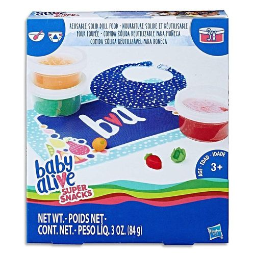 Baby Alive Kit Refil de Comidinhas Original - Hasbro C2727