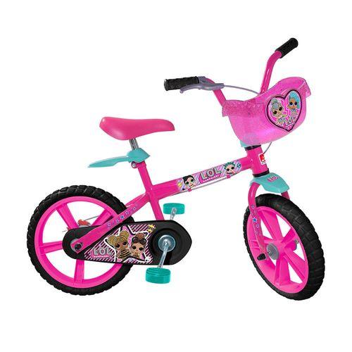 Bicicleta ARO 14 - Lol - Rosa - Bandeirante