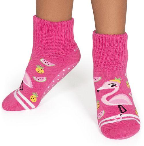 Meia Botinha Pansock Flamingo – Puket – Menina – Algodão – Pink – 30-33