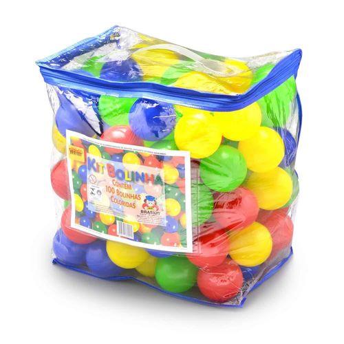 Kit 100 Bolinhas Coloridas de Plástico - Braskit