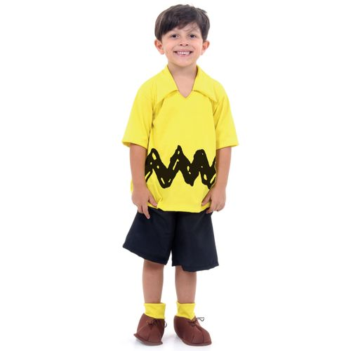 Fantasia Charlie Brown Infantil - Peanuts - Sula