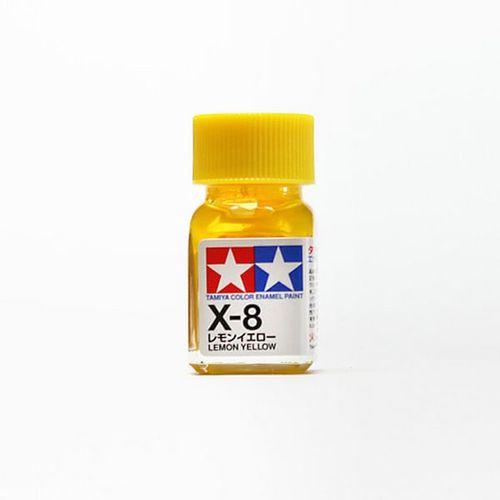 X8 ENAMEL LEMON YELLOW 10ML TAM80008