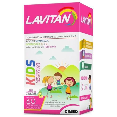 Lavitan Kids 60 Comprimidos Mastigáveis