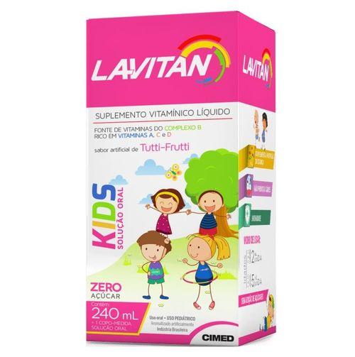 Lavitan Kids Zero Açúcar Tutti Frutti 240ml