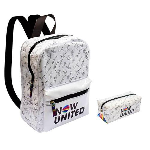 Kit Escolar Com Mochila e Estojo - Now United - Branco - DAC