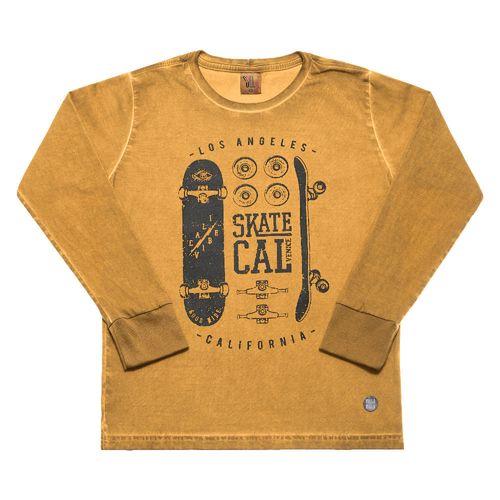 Camiseta - Pulla Bulla - Infantil - Meia Malha - Amarelo - Menino - 8