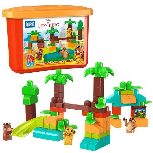 Blocos De Encaixe - Mega Bloks Disney - Aventura do Simba - Mattel