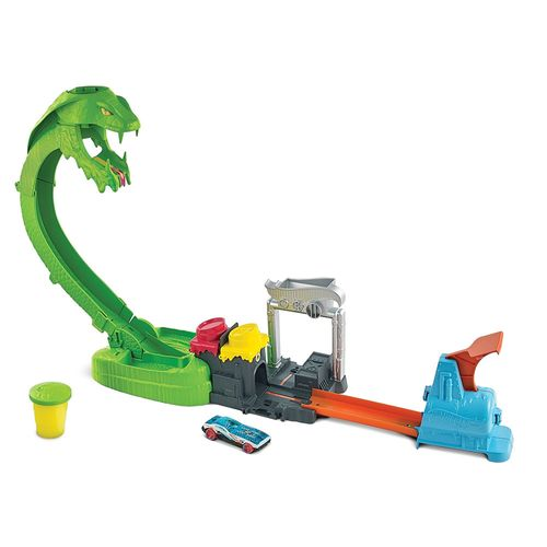Pista de Percurso - Hot Wheels City - Ataque Tóxico da Serpente - Mattel