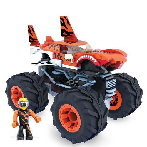 Blocos de Encaixe - Mega Construx - Hot Wheels - Monster Trucks - Tiger Shark - Mattel