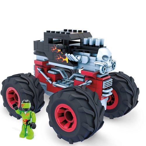 Blocos de Encaixe - Mega Construx - Hot Wheels - Monster Trucks - Bone Shaker - Mattel